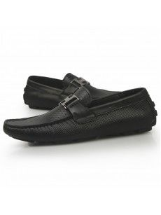 Mens Business Casual Black Slip on Soft Cowhide leather Boat Shoes. I need a pair of these to add to my collection