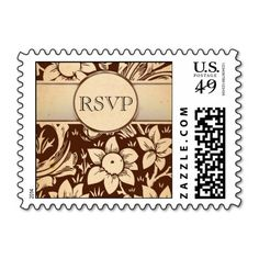 fall wedding rsvp stamps