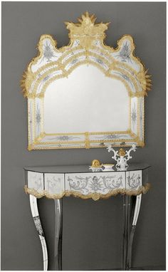 17th Century Venetian Mirror An exquisite genuine Murano mirror reminiscent of the sumptuous atmosphere of the palaces of 17th century Venice. There is a beautiful matching table available in our Venetian Mirror Furniture collection. All mirrors in this range...