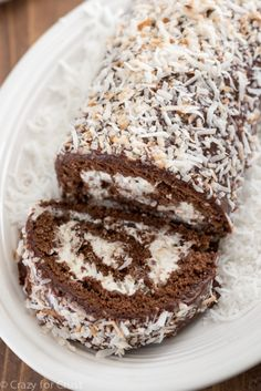 Chocolate Coconut Cake Roll