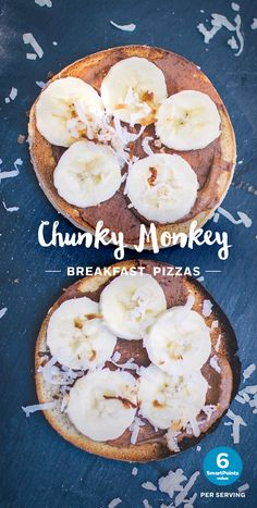 Double tap to get the full recipe for this sweet breakfast treat. Enjoy 2 chocolate, banana, coconut topped Sandwich Thin ® Rolls for 6 SmartPoints.