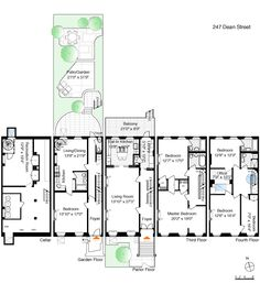 1000 images about brownstone floorplans on pinterest for Brownstone plans