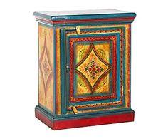 Mesita de noche en madera de palisandro Adila - multicolor