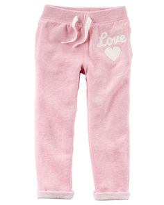 Kid Girl French Terry Pants | Carters.com