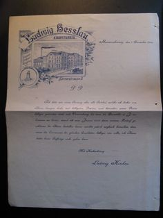 Antique Letterhead Ludwig Hesslau Knopffabrik generally write about pricing 1902