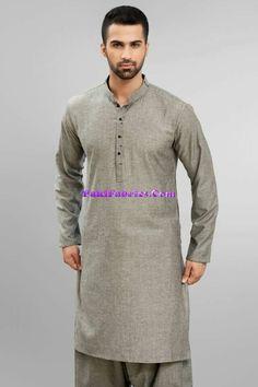 Shalwar Kameez Pakistani  Men Wear in light olive gray