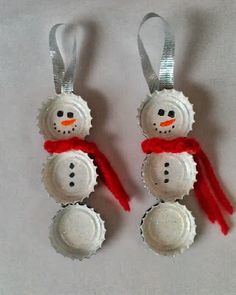 . . . . . How to Recycle: Recycled Snowman Christmas decor