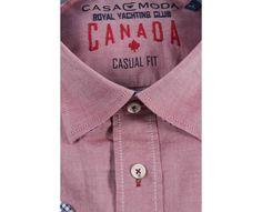Ανδρικό Πουκάμισο Μακρύ Μανίκι και  ύφασμα τύπου oxford από τη Casa Moda, πάντα βαμβακερό και Non Iron.