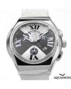 Brand New AQUASWISS Made in Switzerland Stainless Steel Watch  DiamondMen #Jewelry