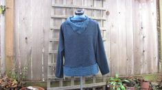 Eco+Tattered+Long+Sleeve+Cowl+Neck+Sweater/Fuzzy+by+FuriousDesigns