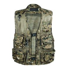 Cheap jackets ladies, Buy Quality jacket leopard directly from China vest men Suppliers: Chaleco Hombre Camo Mesh Multi Pockets Camo Fish Hunt Vest Shooting Waistcoat Esporte Sleeveless Jacket mesh Camouflage Vest Sleeveless Jean Jackets, Fishing Vest, Fishing Life, Men's Waistcoat, Military Camouflage, Camouflage Clothing, Military Vest, Sports Vest, Hunting Clothes