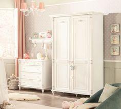 Romantic 2 deurs kledingkast kinderkamer