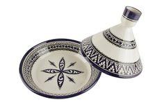 Prend rapide : -Tajine la main de largile Peint à la main motif et motif marocain -Pour servir seulement -Bon pour le service des plats chauds