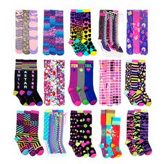 Cute knee high socks are the craze these days, and you will love our crazy knee high socks! Check out all our latest patterns and colors!