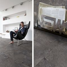 2011 Anti Slip Stone Effect Vinyl Flooring - Vinyl Flooring Uk Vinyl Flooring Uk, Stone Flooring, Egg Chair, Living Spaces, Recycling, Modern, Insulation, Furniture, Tiles