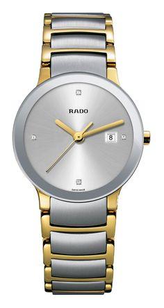 02e186f71 RADO Diamond Centrix, yellow gold PVD & st.steel watch. Made in Switzerland  · RadoLuxury WatchesWomen's ...
