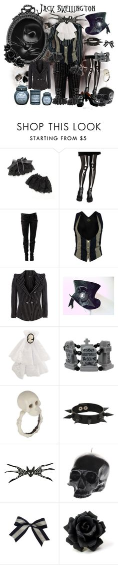 """""""♕ Jack Skellington Ouji ♕"""" by medora ❤ liked on Polyvore featuring Disney, Disguise, Balmain, Vivienne Westwood Anglomania, Dorothy Perkins, Cameo, Forever 21, D.L. & Co., Ciel and vintage"""
