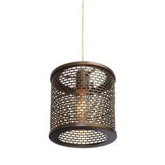 Varaluz Lit-Mesh Test 1-light New Bronze Mini Pendant | Overstock.com Shopping - Great Deals on Varaluz Chandeliers & Pendants