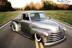 """""""Dirty Sanchez"""" 51 Chevy Bare Metal Pickup...Brought to you by #House of #Insurance in #Eugene"""