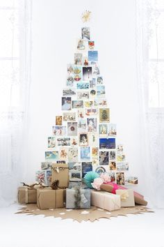 christmas tree made with photos pictures - kerstboom van foto's maken