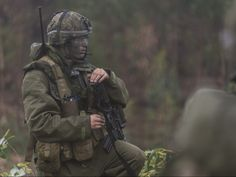 Members of A Company (Airborne), 3rd Battalion, Royal 22e Régiment conducting a Chemical, Biological, Radiological, Nuclear and Explosives (CBRNE) raid in Tancos, Portugal during JOINTEX 15 as part of NATO's Exercise Trident Juncture 15, on October 25, 2015.