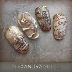 Moyra stamping plates, stamping polishes and pigments 3d Nail Art, Trendy Nail Art, 3d Nails, Cool Nail Art, Nail Arts, Cute Nails, Art 3d, Nagel Stamping, Stamping Nail Art