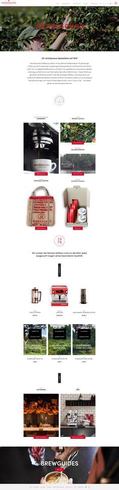 E-Commerce Shopware Onlineshop Webdesign Templates Design Themes Tools Webshop Layout Template Inspiration Website Theme Simple Corporate Identity Branding Creative Storytelling Emotion Erlebniswelten Einkaufswelten Emotional Shopping Worlds Genuss Kaffee Kaffeegenuss Kaffeemanufaktur Shop: www.andraschkokaffee.com #eCommerce #Onlineshop #Webdesign #Design #Shopdesign #Erlebniswelten #EmotionalShopping #ShoppingWorlds #Genuss #Kaffee #Kaffeegenuss #Kaffeemanufaktur #andraschkokaffee Food Web Design, Corporate, Ecommerce, Template, Layout, Creative, Inspiration, Shopping, Online Trading
