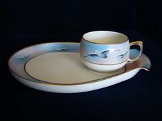 Stunning Vintage Hand Painted Nippon Snack Set by SecondWindShop, $30.00