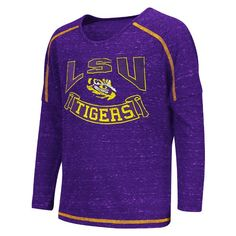 """LSU+Tigers+""""Lily""""+Girl's+Dolman+Tee+by+Colosseum"""