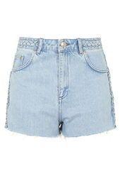 MOTO Bleach Plaited Mom Shorts