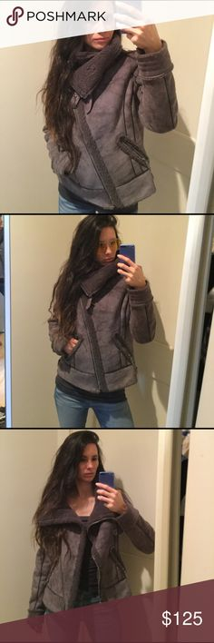 Guess Faux shearling Jacket Motorcycle style , super cute and nice details , very good quality. Warm and stylish Guess Jackets & Coats
