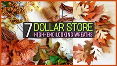 7 CREATIVE $1 Dollar Store DIY Fall Wreaths (Trendy NOT Trashy) - YouTube