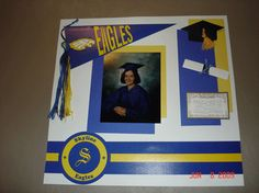 Quick and easy scrapbook page for the graduation party display