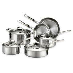 Lagostina Martellata Tri-Ply Stainless Steel 10-Piece Cookware Set and Open Stock - BedBathandBeyond.com