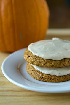 Pumpkin Cookies with Brown Butter Icing