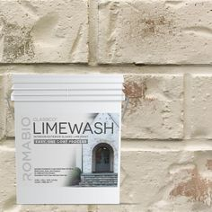 Bring an old-world European look to your home with Riposo Beige Limewash Interior/Exterior Paint by Romabio Classico Limewash. This interior/exterior slaked-lime paint is specially designed to produce Fixer Upper House, Lime Paint, Brick Fireplace, White Fireplace, Fireplace Remodel, Whitewash Stone Fireplace, Whitewashed Brick, Fireplace Redo, Fireplace Ideas