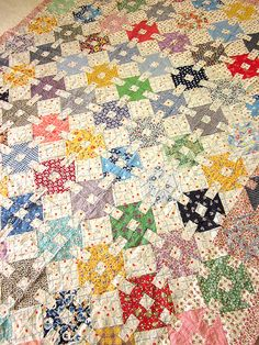 RESERVED for Millie Vintage Patchwork Quilt top by JeepersKeepers,
