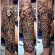 Done #swordsmantattoostudio #bali #blackandgrey #tattoos