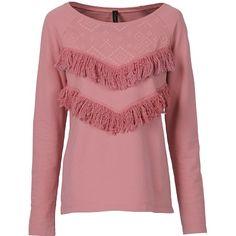 Sweatshirt mit Fransen - Tolles Sweatshirt in Rosa von RAINBOW. Die coolen Fransen sorgen für ein besonderes Highlight. - ab 24,99€