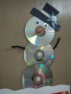 Disk Snow Man - Elementary School Computer Lab