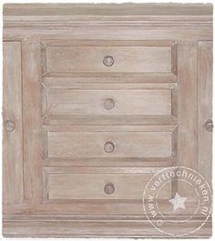 verftechnieken-eiken-kast-kalkwas Furniture Decor, Painted Furniture, Paint Effects, Living Room, Diy, Painting, Whitewash, Home Decor, Inspiration