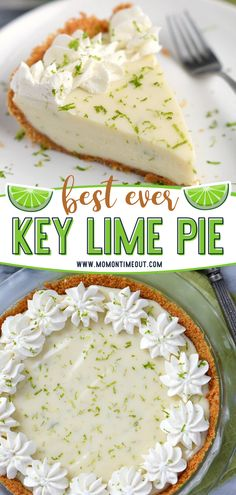 Make the Best Key Lime Pie for back to school season! Quick and easy to make, this dessert recipe is sure to become a family favorite. With a delicious graham cracker crust filled to the brim with an incredibly creamy filling, you won't be able to stop at just one slice! Easy Pie Recipes, Quick Easy Desserts, Baking Recipes, Delicious Desserts, Lime Recipes Healthy, Quick Dessert Recipes, Baking Ideas, Quick Easy Meals, Fun Desserts