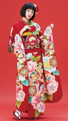 Retroタイプ 1 Traditional Japanese Kimono, Traditional Fashion, Traditional Dresses, Japanese Outfits, Japanese Fashion, Asian Fashion, Geisha, Yukata Kimono, Kimono Design