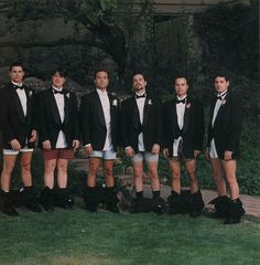 Groomsmen Photo. Would be better if they all had on superhero boxers!!!