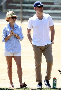 Reese Witherspoon & Jim Toth got pap'd looking happy   at a kids' soccer game