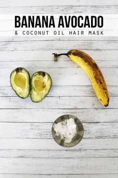 This easy Banana Avocado and Coconut Oil Hair Mask is the perfect way to treat your hair!