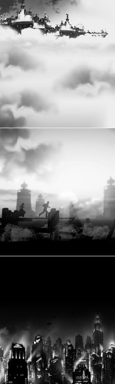 Bioshock: There's always a lighthouse. There's always a man. There's always a city.