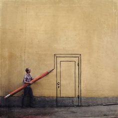Pencil door.