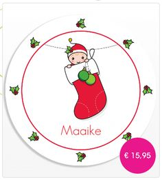 Baby's eerste kerst bordje - Baby's first christmas plate (made of melamine)