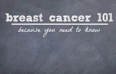 Do you know your risk for developing breast cancer?  You should.  Breast Cancer 101 by Wendy Nielsen